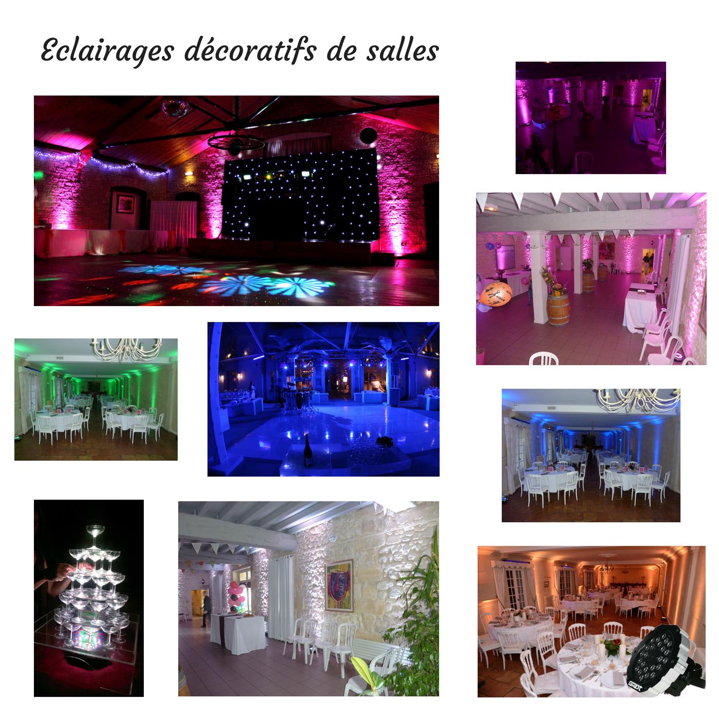Eclairages décoratifs de salles
