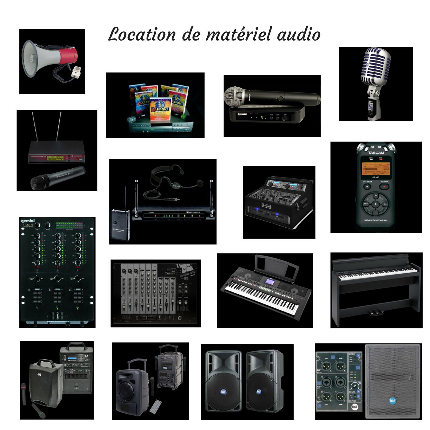 Location de matériel audio