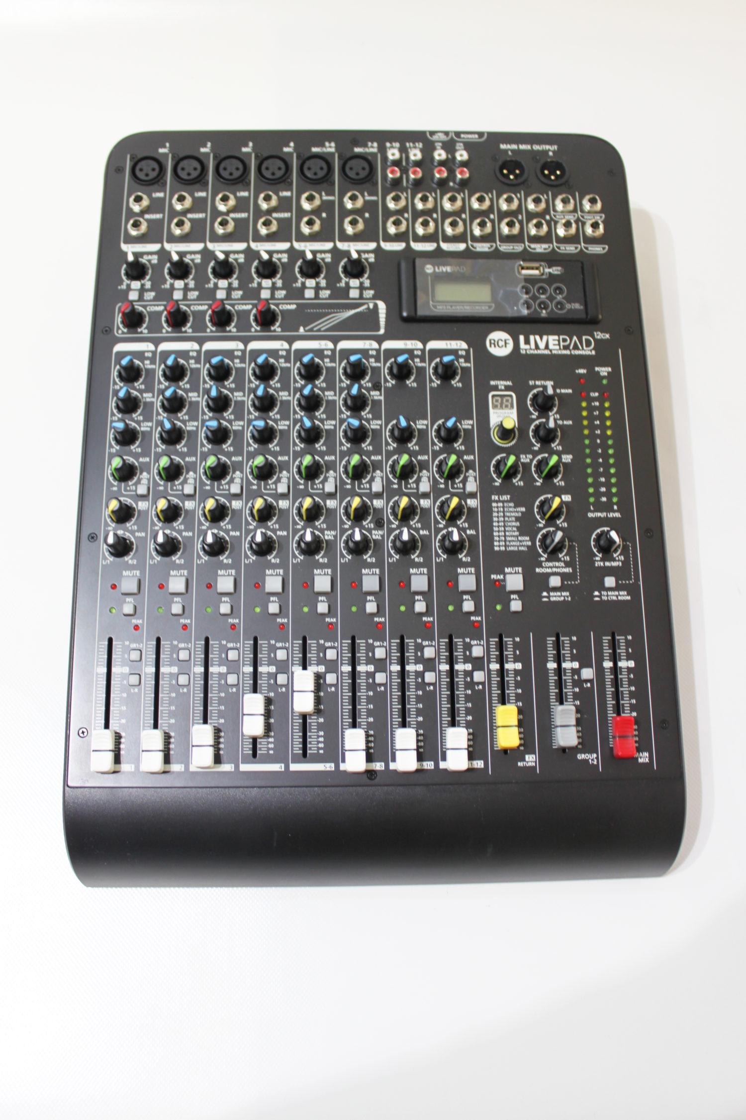 Console de mixage analogique 12 voies