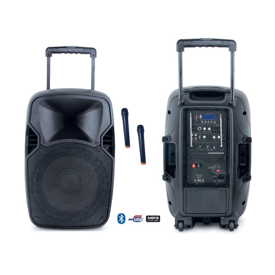 Pack sono 7 : enceinte portable autonome de 200 watts + 2micros HF